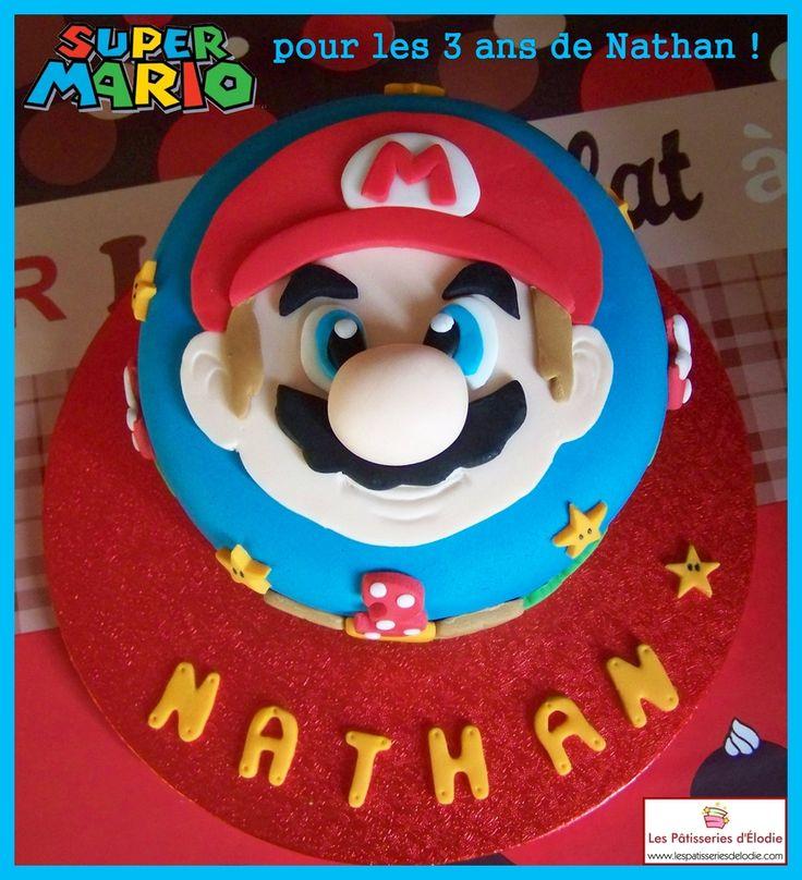 Gâteau Super Mario Bros par Les Pâtisseries d'Élodie.