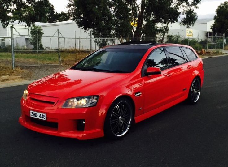 """2009 Holden Commodore Wagon SSV. $21,000.00. Manual. 135,000km. 20"""" wheels. Sunroof (fully openable and tilt option). Wrapped black vinyl roof. 2"""" sports x-force exhaust system. Growler air intake. Full leather interior in mint condition. This car has the lot. HASTINGS, VIC"""