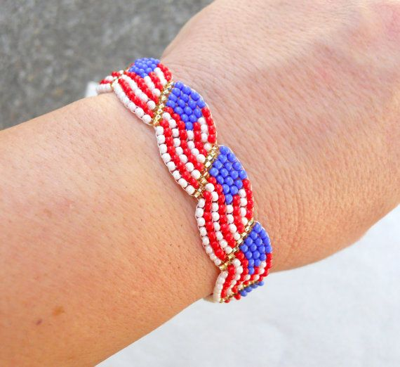 45 best patriotic images on pinterest bead patterns for Patriotic beaded jewelry patterns