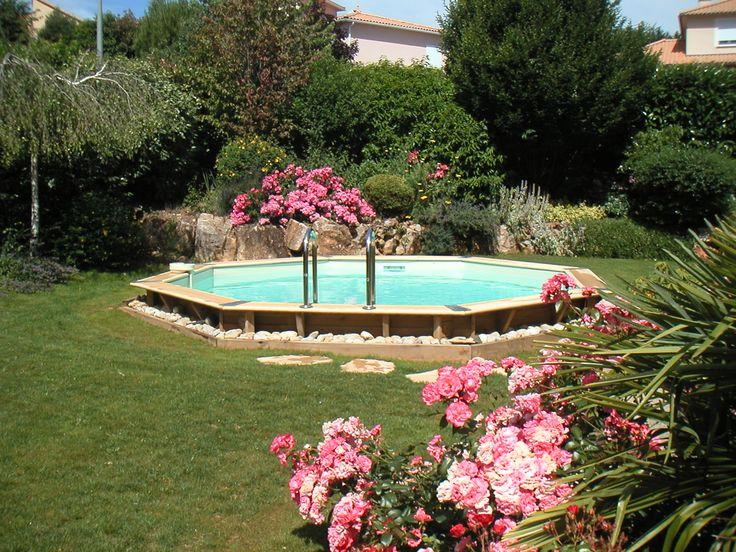 Un bijou dans votre jardin avec cette Piscine bois octogonale Océa 580 cm H.130 cm | Manubricole.com #piscine #bois