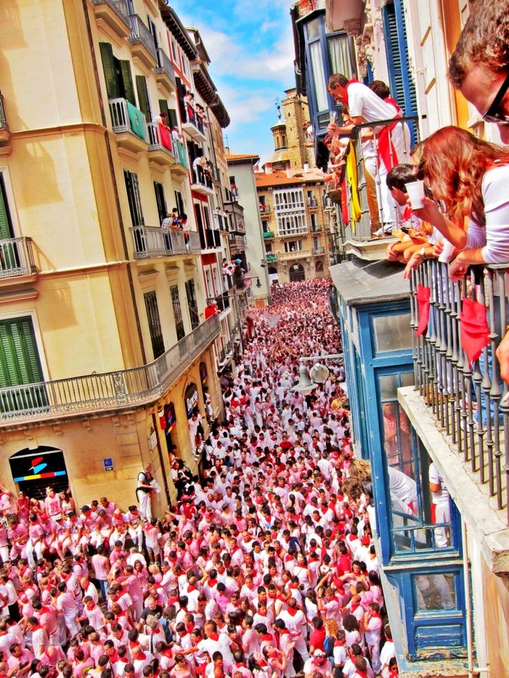 ~jULY 06, 2016~ The San Fermín Festival takes place in Pamplona, Spain every year. You may have never heard of the actual festival but it's internationally recognized for the famous Running of the Bulls. It has been a dream of mine to participate in the festivities and I finally got to turn that dream into reality!    The opening ceremony,