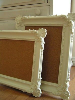 Frame cork boards!  How simple yet cute!