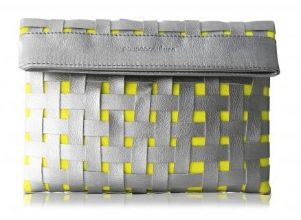 neon/grey: Arm Candy, Poup Couture, Apartment Clutches, Couture Handbags, Handbags Addiction, Accessories, Woven Apartment, Woven Clutches, Neon Yellow