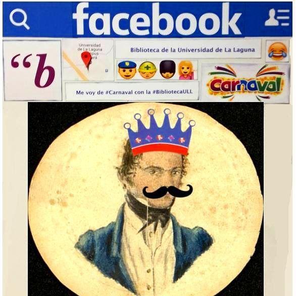 Don José Agustín Álvarez Rixo, erudito portuense del s. XIX cuyo archivo personal custodiamos en la #BibliotecaULL, ha pasado por nuestro photocall de #carnaval. Pueden conocerlo mejor desde su cuenta de Twitter (https://twitter.com/AlvarezRixo) o la de Facebook (https://www.facebook.com/José-Agustín-Álvarez-Rixo-1146950595328400/) #Canarias #ArchivosPersonales #ÁlvarezRixo #instabiblioteca