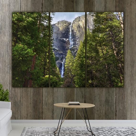 Yosemite Falls Large Canvas Wall Art Great Office Or Living Etsy Large Canvas Wall Art Wall Canvas Fall Canvas