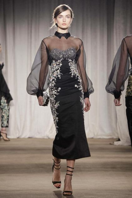 """In the program notes for the Marchesa show the designers Georgina Chapman and Keren Craig revealed that the famous seventeenth-century panting """"Portrait of Maria Teresa de Vallabriga on Horseback,""""..."""