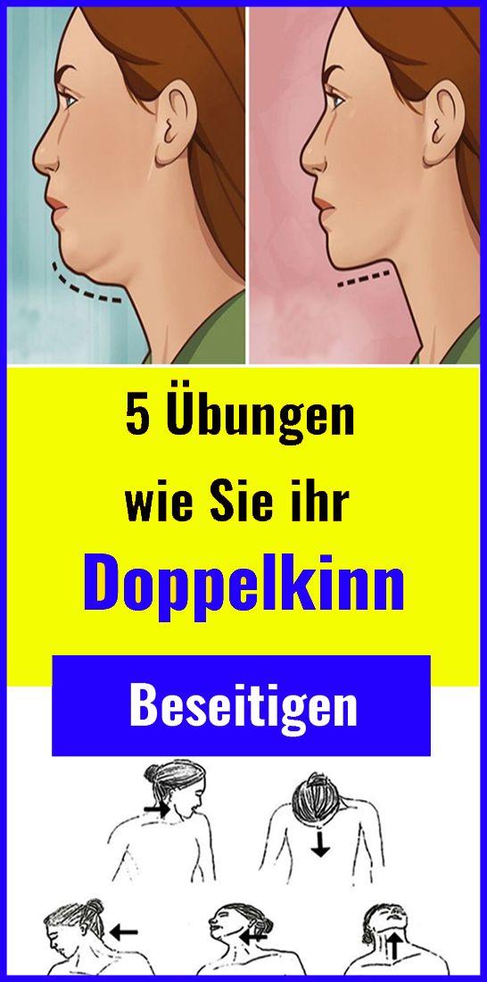 5 Übungen, wie Sie ihr Doppelkinn beseitigen