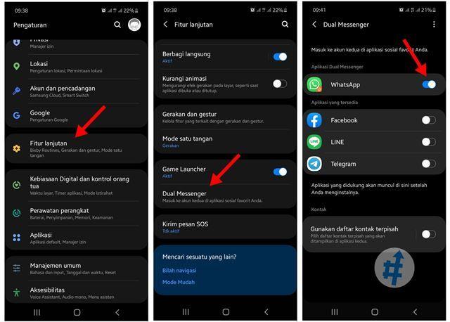 Cara Membuat 2 Aplikasi Whatsapp Di Ponsel Samsung Aplikasi Ponsel Samsung