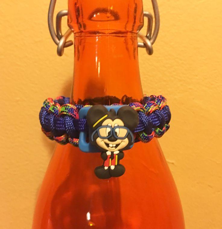 Paracord Mickey Bracelet with basic cobra weave.