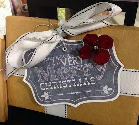 Sue Neal - Easy Christmas Chalkboard Tags - free printables!