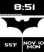 #Batman Dark Knight #Pebble watch face.