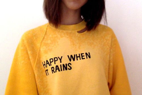 happy when it rains