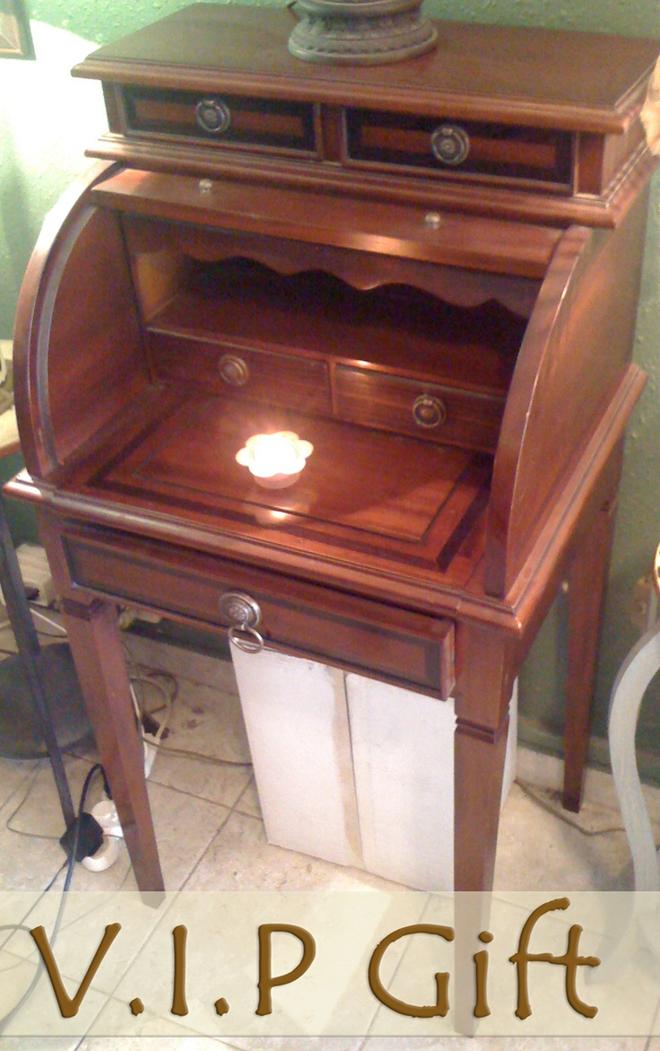 Drop down small secretary desk art noveau art deco for Small drop down desk