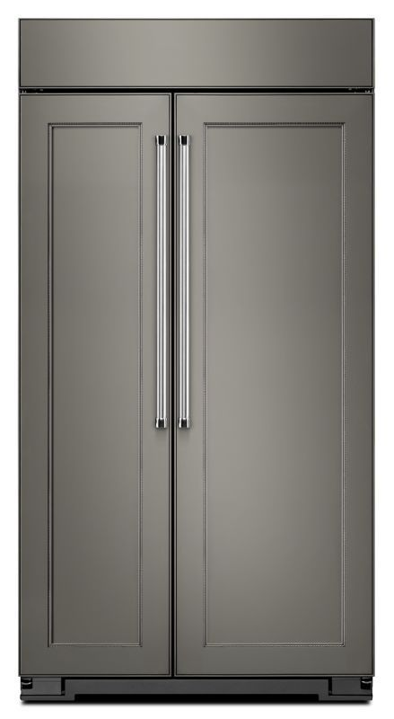 KitchenAid KBSN608E 48 Inch Wide 30.0 Cu. Ft. Refrigerator Built In  Side By Side Panel Ready Refrigerators Refrigerators Fridge