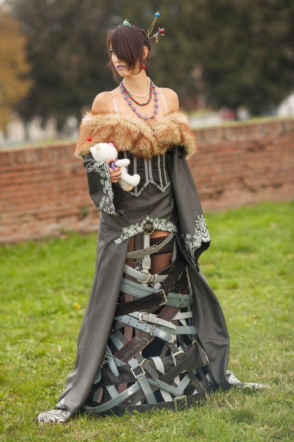 Videogame: Final Fantasy. Character: Lulu. Cosplayer: Adele Brandaglia 'aka' A.Bra. Event: Lucca Comics 2012.