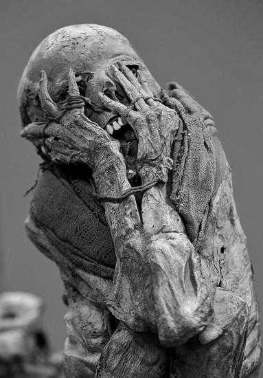 Oh no.....the chachapoya mummies, museum of the nation, lima, peru.