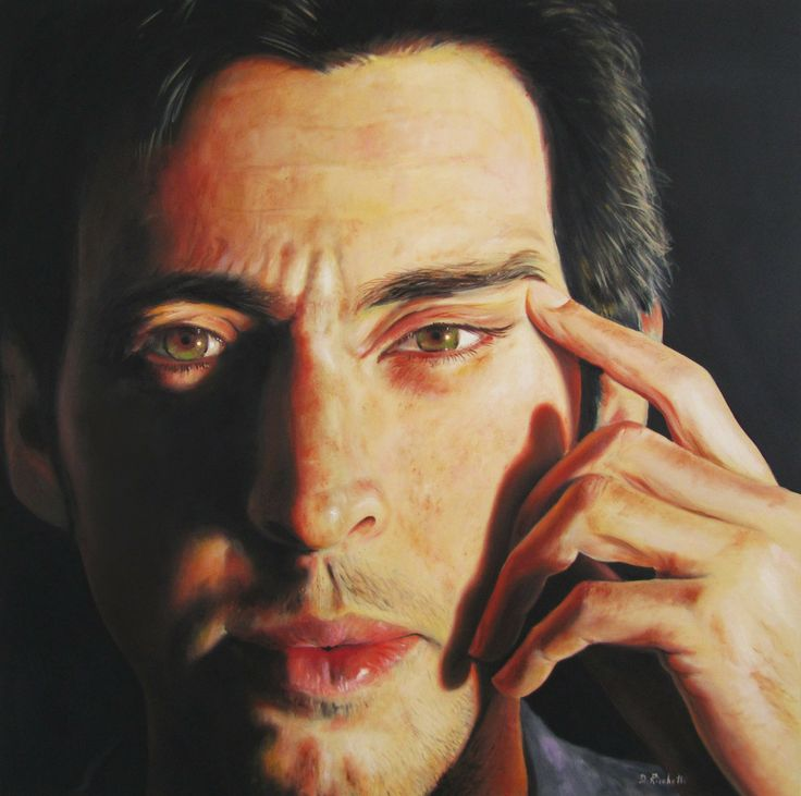 "Davide Ricchetti. ""Marco Polo"" oil on canvass cm 54x54, 2014"