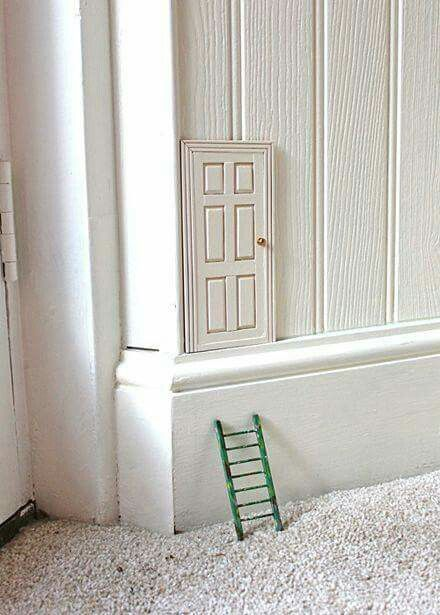 Writing prompt: One day you find this tiny door in your bedroom. What do you do? Who uses that doir? Where does it lead?
