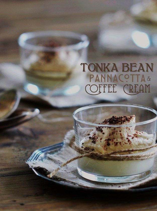 Tonka Bean Pannacotta with Coffee Cream (Tonkaböna Pannacotta med Kaffegrädde) - http://www.diypinterest.com/tonka-bean-pannacotta-with-coffee-cream-tonkabona-pannacotta-med-kaffegradde/
