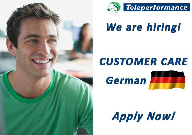 We are hiring! Requested skills: - excellent GERMAN language, both speaking and writing - excellent communication skills - good English level - computer skills (proficient knowledge of Microsoft Office) - customer oriented, team player, flexibility, dedication - ready for learning new things bringing an own contribution to the team  Apply now at recrutare@teleperformance.ro