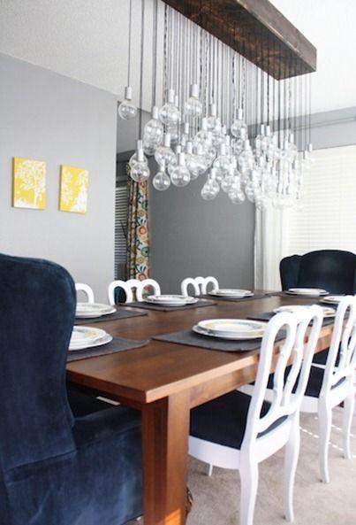 diy dining room light.