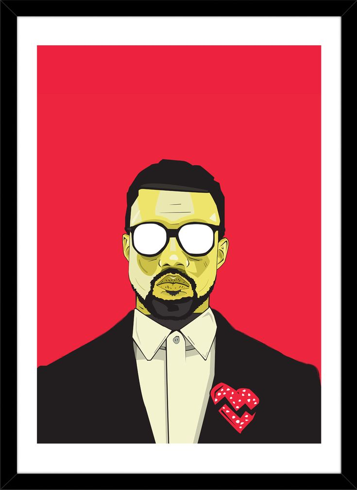 Kanye West by Matt Anderson Framed Painting Print