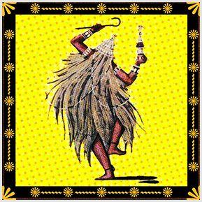 Omulu / Obaluaê - Quadrinhos confeccionados em Azulejo no tamanho 15x15 cm.Tem um ganchinho no verso para fixar na parede. Inspirados em deuses do Candomblé e Umbanda. Para entrar em contato conosco, acesse: www.babadocerto.com.br