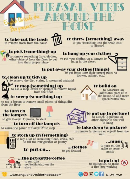 Phrasal verbs around the house #learnenglish