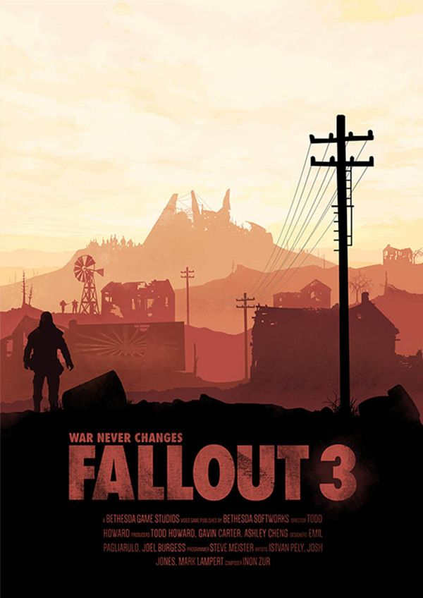 Fallout 3: Poster Set by Conor Smyth, via Behance._