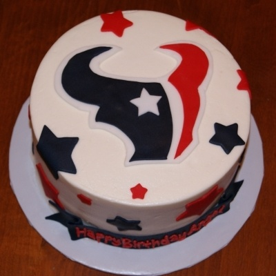 Texans Cake By Betnie on CakeCentral.com