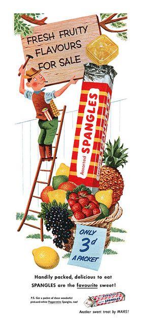 Vintage Spangles Ad - 1953