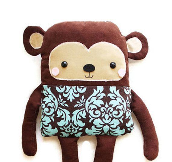 Monkey Doll PDF Sewing Pattern Easy Toy Monkey Softie Pattern