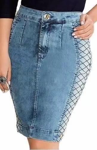 saia jeans titanium 23065 moda evangelica - lançamento 2017
