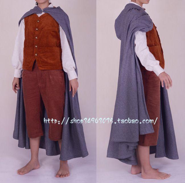 De hobbit frodo cos outfit pak cosplay kostuum volledige set film lord van de ringen maatwerk top + vest + cape + broek in            Naam:gratis verzending voor de  van kleding op AliExpress.com | Alibaba Groep