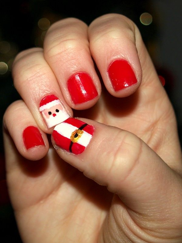 Christmas nail art santa hat piggieluv rubber ducky nail art view images best ideas about santa hat nails on prinsesfo Choice Image