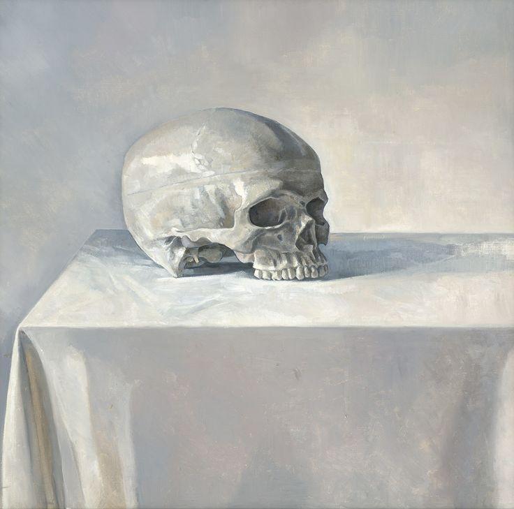 Anthony Springford, Skull (giclee print on paper, 2014)