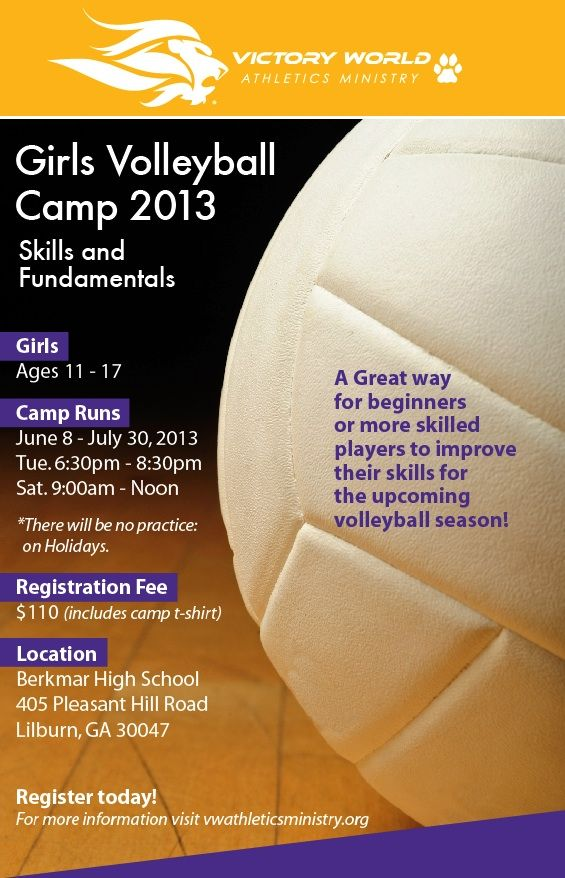 volleyball camp flyer Great energy youth, and teens here at uc