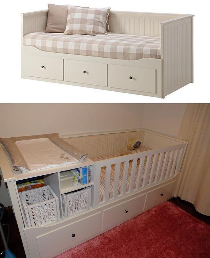 Cama Ikea / Berço Bebé Com Muda Fraldas