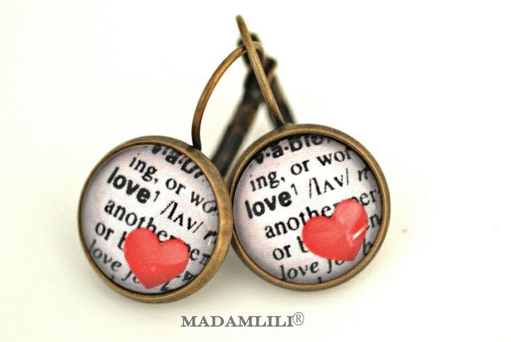 """Definition """"Liebe"""" ♥ Bronze Ohrringe von MadamLili® ♥ Nostalgieschmuck für Romantiker ♥ Das Original seit 2009 auf DaWanda.com"""