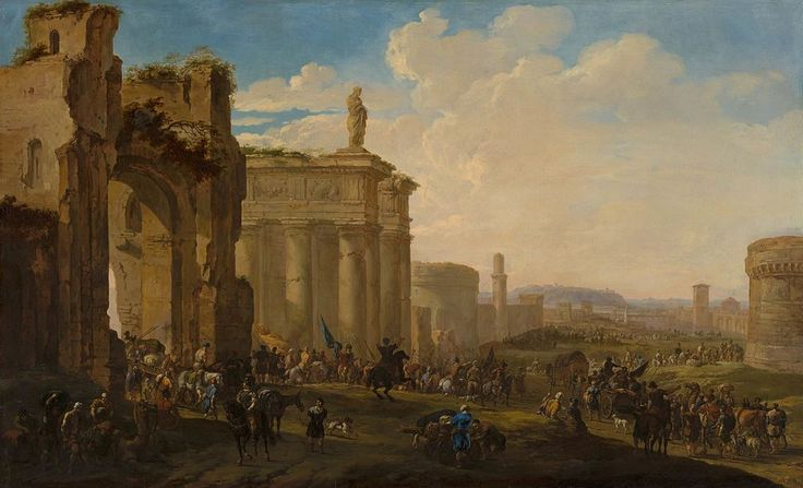 Army Advancing among Roman Ruins by Jacob van der Ulft Mauritshuis 196.jpg