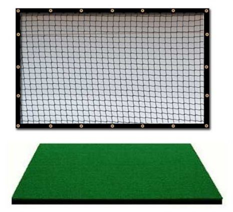 Made in the USA this golf mat and golf practice net combo by Dura-Pro includes a 9' x 10' high velocity impact panel and Dura-Pro golf hitting mat