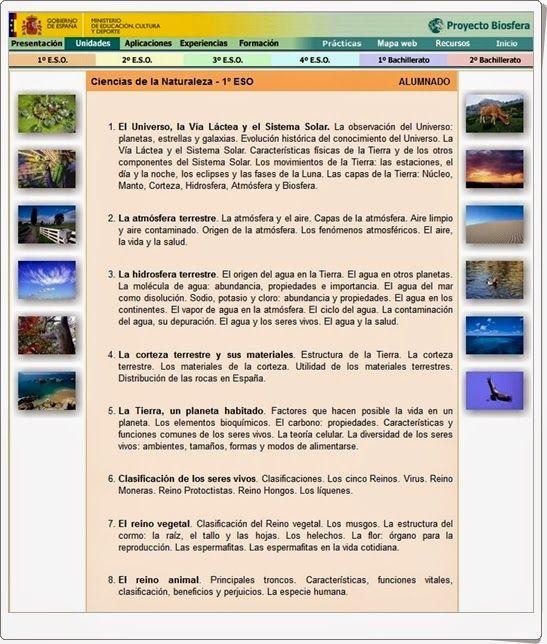 El proyecto biosfera del ministerio de educaci n de for Ministerio de seguridad telefonos internos