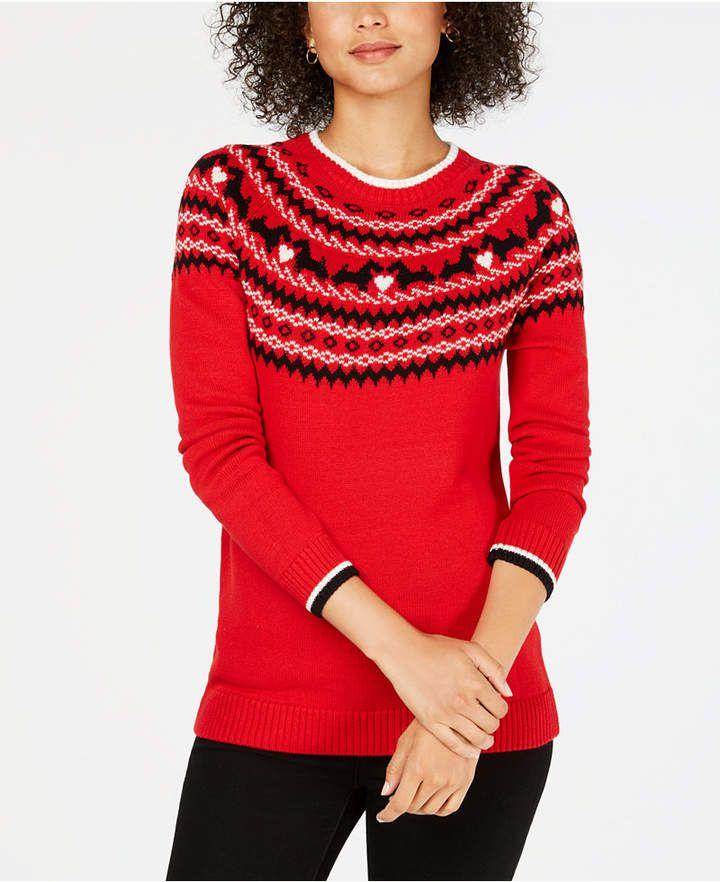 5b2888653ecda Charter Club Fair Isle Scotty Dog Sweater, Created for Macy's ...