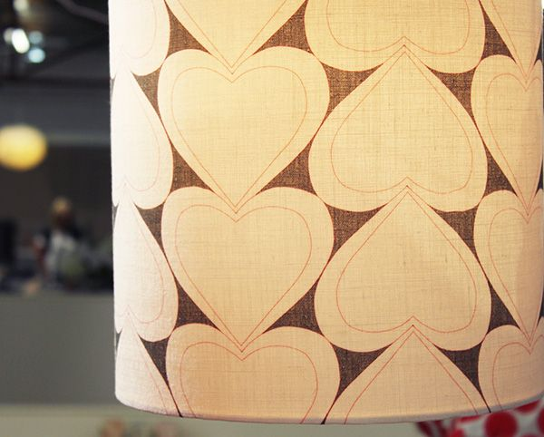 Light up your special space with a Heart Ethical #fabric covered lamp