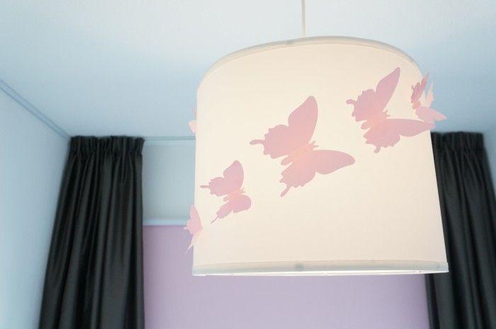 Lampenkap Vlinders Babyroze Hanglamp