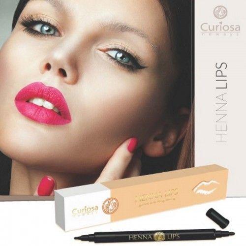 Henna eyes est un feutre à lèvres semi-permanent et 100 % naturel, maquillage révolutionnaire à 2 pointes, l'une fine et l'autre plus épaisse. Grâce aux extraits purs de henné il donne à vos lèvres une couleur durable et à la mode..
