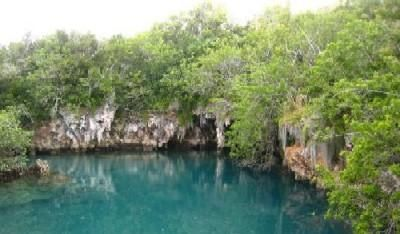 I got to swim here all by myself! Blue Hole Park Bermuda