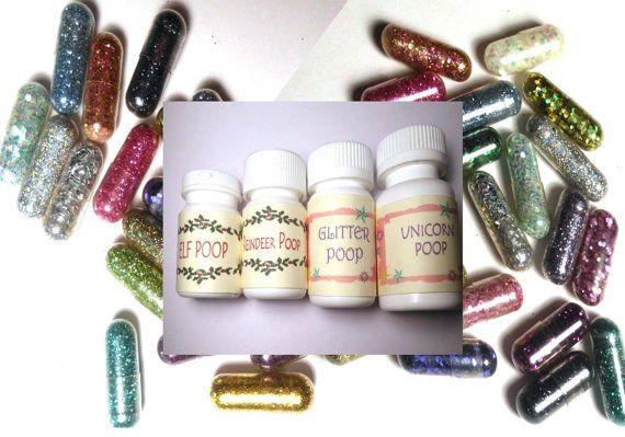 Glitter Pills Glitter Pill Sparkle Pill 8 Pills by GustavosGoods