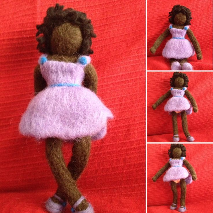 Felted wool doll