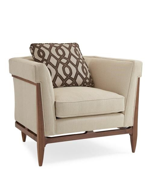Bigelow Chair : Modern Craftsman Upholstery : LIVING - CHAIRS : CRF-CHAIR-02A | Caracole Furniture